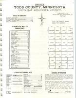 Index Map, Todd County 1972